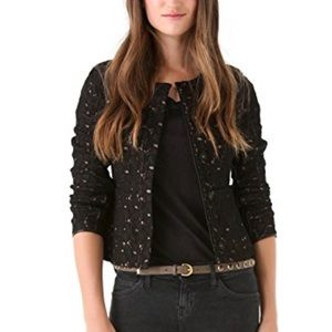 Lace Leather Blazer Jacket
